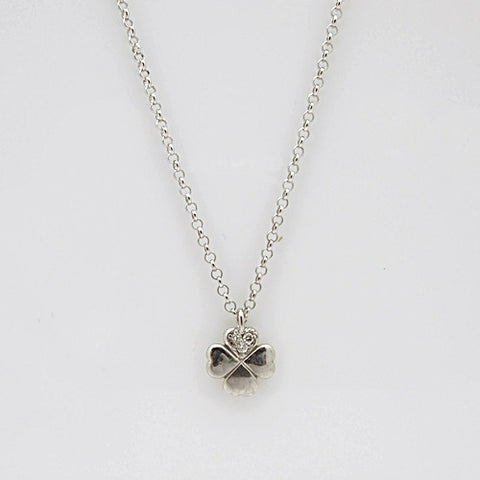 Nomination GIOIE Collection Silver CZ Four Leaf Clover Necklace