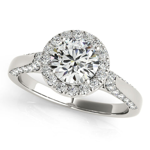 14k 1.37ct Diamond Halo Engagement Ring