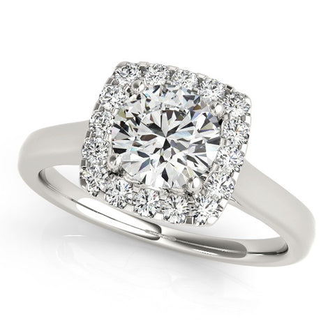 14k 1.25ct Diamond Halo Engagement Ring