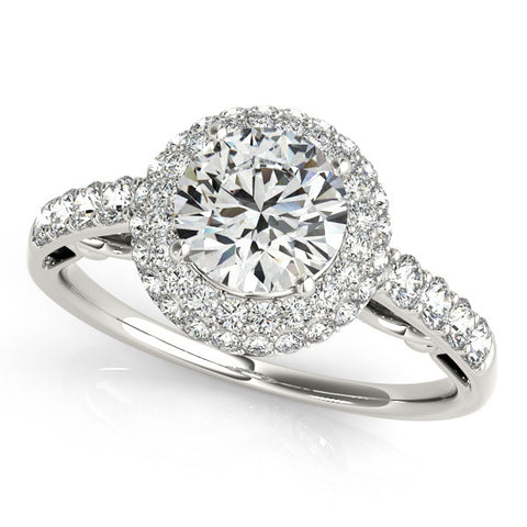 14k 1.50ct Halo Diamond Engagement Ring
