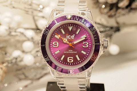 Ice-watch Unisex Classic Clear Watch - Bracelet - Purple Dial - Clpeup09