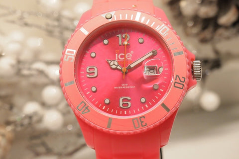 Ice-Watch Unisex SI.FP.B.S.10 Sili Collection Pink Plastic and Silicone Watch