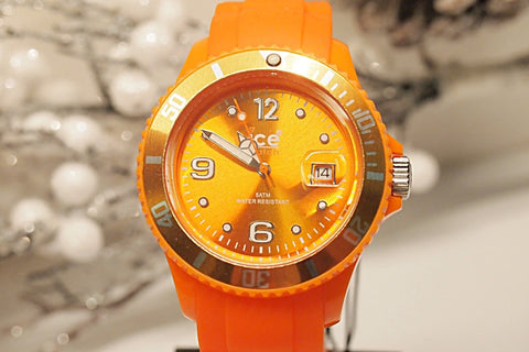 Ice-Watch Unisex SI.OE.U.S.09 Sili Collection Orange Plastic and Silicone Watch
