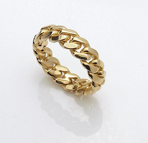 14k Miami Cuban Link Ring
