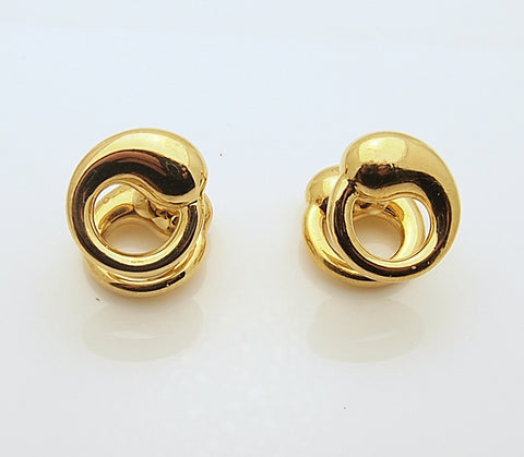 Estate Tiffany Elsa Peretti Sevllana 18k Gold Cufflinks