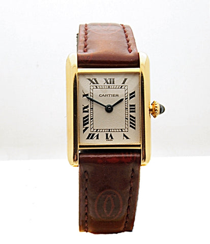 Estate 18k Cartier Tank Women's Watch