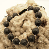 Men's Lava Bead Adjustable Bracelet
