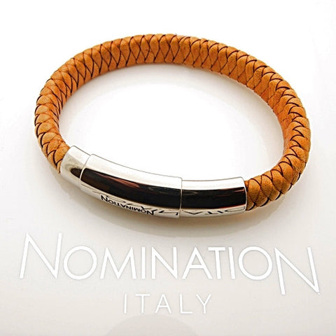 Nomination Safari Braided Leather and Steel Bracelet
