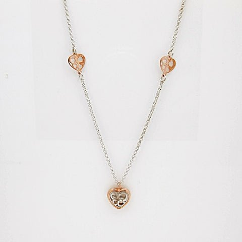 Nomination Verona Collection Pink Plated Sterling Silver Heart Necklace