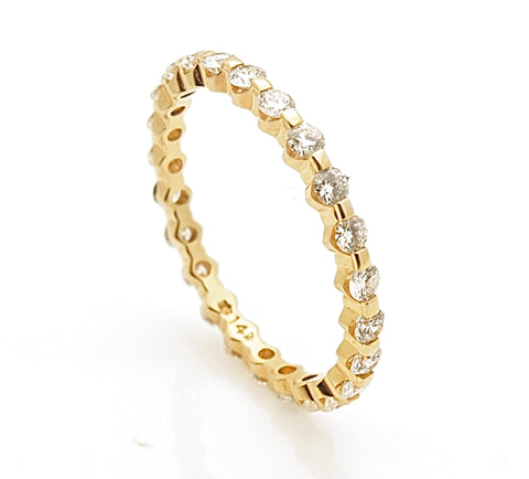 14k Diamond Eternity Band .84 tct