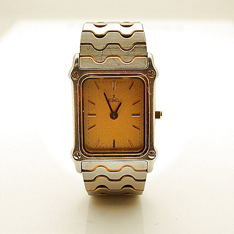 Estate Vintage Ebel Classic Wave 18k  and Steel Women's Watch
