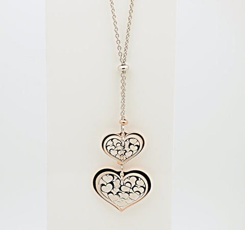 Nomination ROMANTICA Collection Sterling Silver Double Heart Necklace