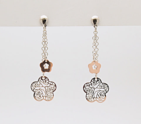 Nomination ROSA Collection Sterling Silver Filigree Drop Earrings