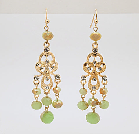 Briolette Chandelier Drop Earrings