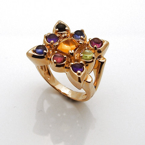 Estate 14k Semi Precious Stone Ring