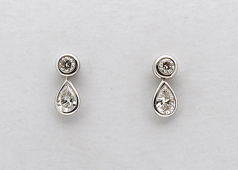 Estate Tiffany Elsa Peretti Diamonds by the Yard Platinum Earrings