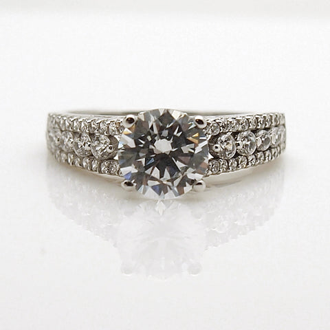 14k White Gold CZ Ring