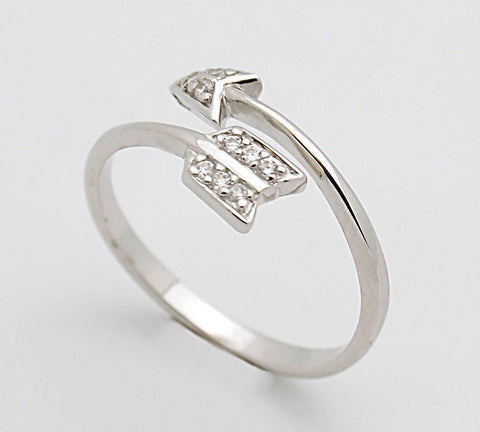 Sterling Silver CZ Arrow Ring