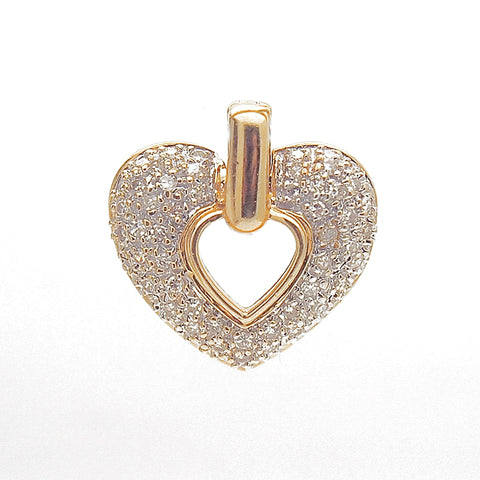 14k Yellow Gold .50 TCW Diamond Heart Pendant
