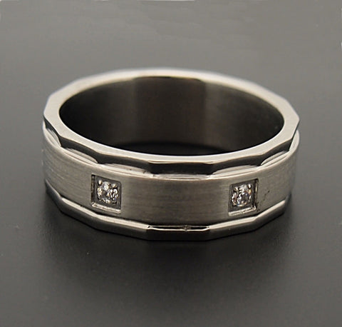 Stainless Steel Crystal Band