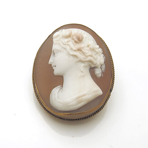 Antique Silver Gilt Cameo Circa 1870