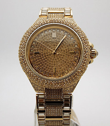 Michael Kors Women's Camille Crystal-Covered Gold-Tone Watch  MK5720