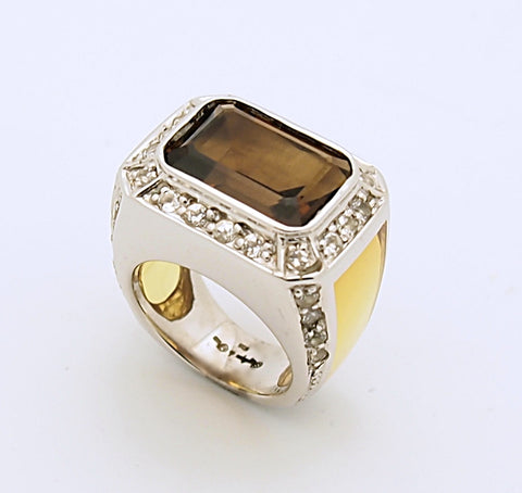 Angelique de Paris ROXY Sterling Silver Citrine Ring