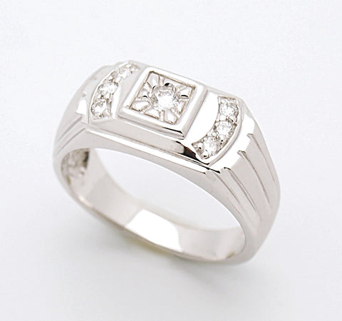 14k Mens Diamond Ring