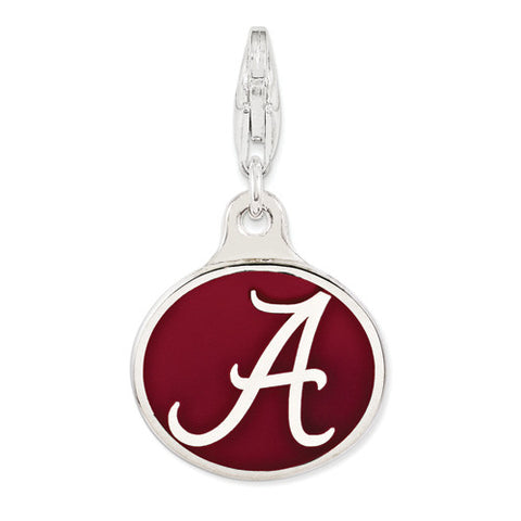Sterling Silver Enamel Univ. Of Alabama W/ Lobster Clasp Charm