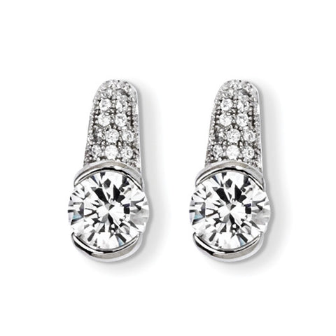 Sterling Silver & CZ Brilliant Embers Post Earrings