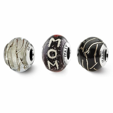 Sterling Silver Reflections Momma Mia Boxed Bead Set