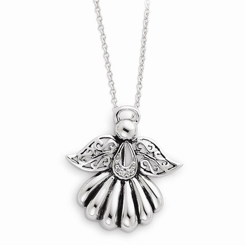 "Sterling Silver "" Angel of Remembrance"" Pendant Necklace"