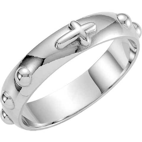 Sterling Silver Rosary Wedding Band