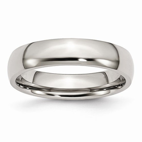 Stainless Steel 5mm Polished Wedding Band