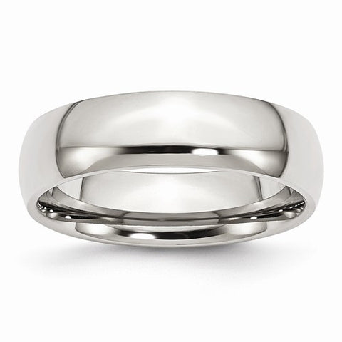 Stainless Steel 6mm Polished Wedding Band