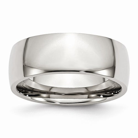 Stainless Steel 8mm Polished Wedding Band