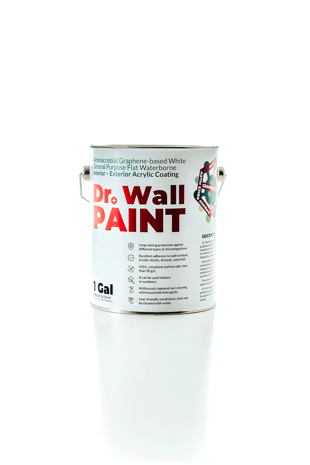 Dr. Wall Antimicrobial Paint (White, 1 gal)