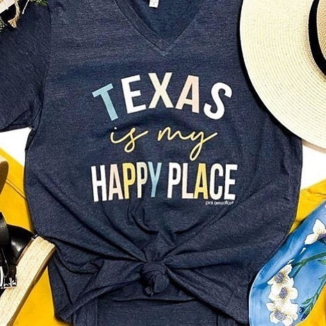 Texas is My Happy Place Tee