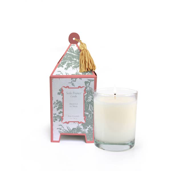 Seda France Toile Pagoda Box Candle