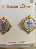 Susan Shaw Cross Earrings