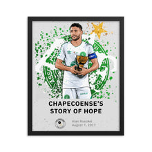 Load image into Gallery viewer, Chapecoense's story of hope framed poster