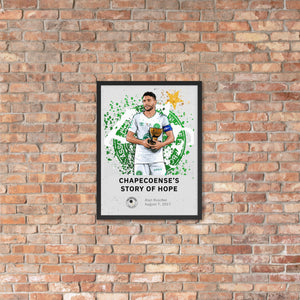 Chapecoense's story of hope framed poster