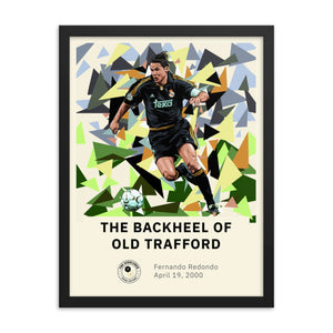 The Backheel of Old Trafford Framed Poster