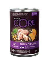 Load image into Gallery viewer, Wellness CORE Can Puppy Turkey, Chicken and Pumpkin 6 x 400g
