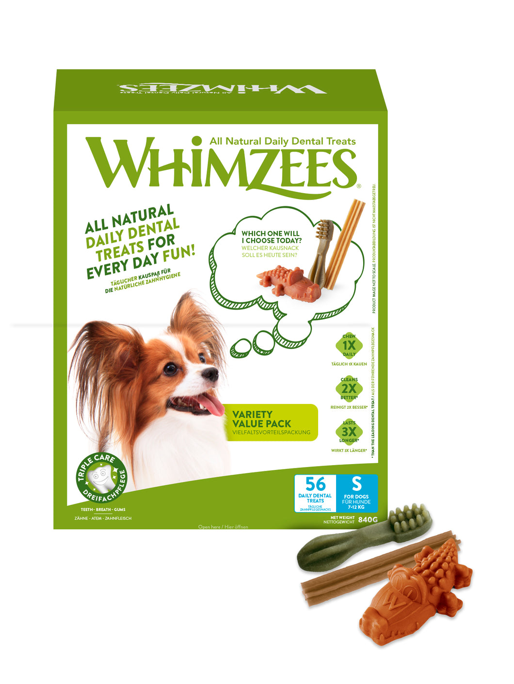 WHIMZEES Variety Value Box Small - 56 pack