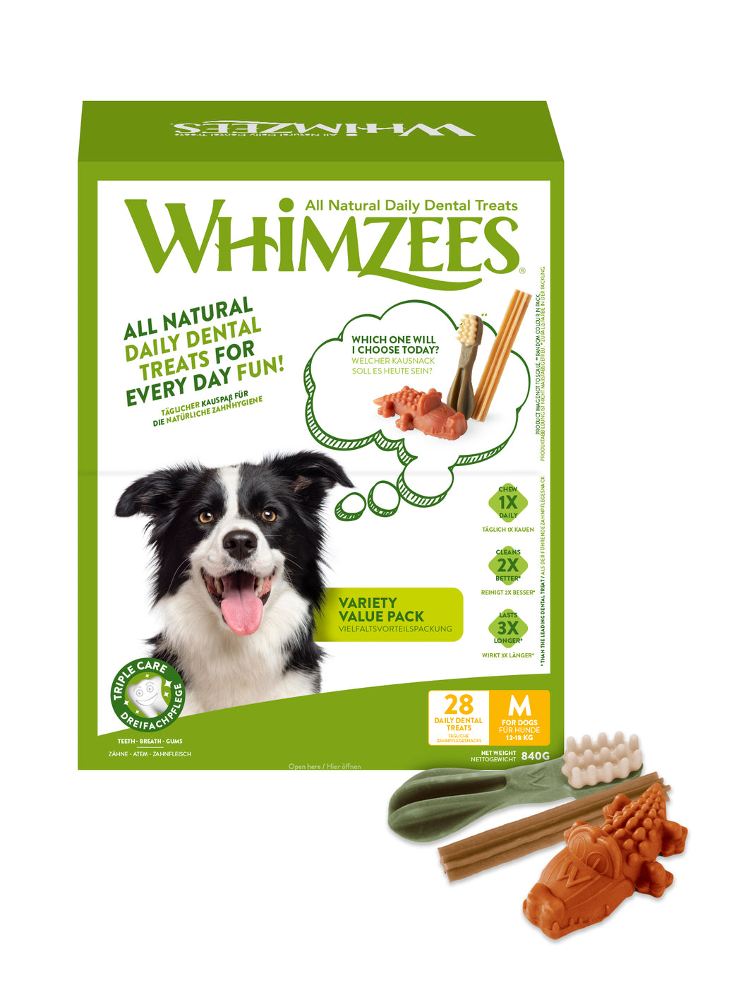 WHIMZEES Variety Value Box Medium - 28 pack