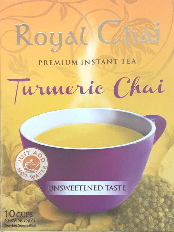 Royal Instant Chai Turmeric Unsweetened 10 Servings