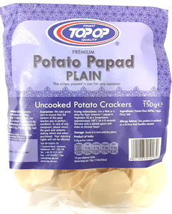 Top Op Potato Papad Plain 150g