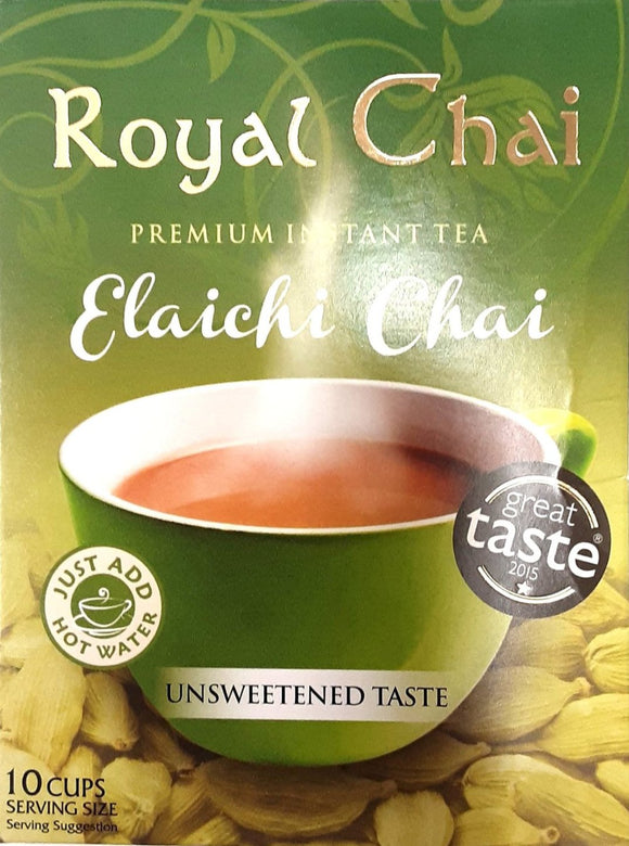 Royal Instant Cardamom Elaichi Chai Tea Unsweetened 10 Serving 220g