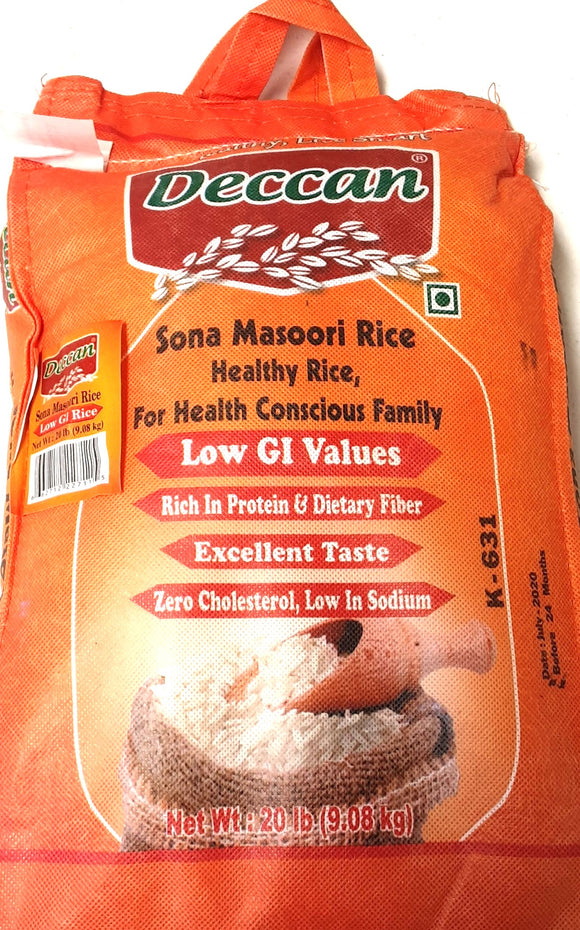 Deccan Low GI Sona Masoori Healthy Rice 10kg